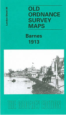 Barnes 1913: London Sheet 098.3 - Old O.S. Maps of London 98 (Sheet map, folded)