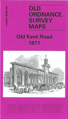 Old Kent Road 1871: London Sheet 090.1 - Old O.S. Maps of London (Sheet map, folded)
