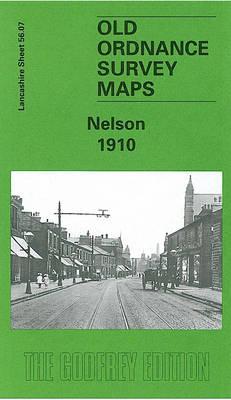 Nelson 1910: Lancashire Sheet 56.07 - Old O.S. Maps of Lancashire (Sheet map, folded)