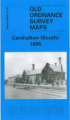 Carshalton (South) 1895: Surrey Sheet 13.16 - Old Ordnance Survey Maps of Surrey (Sheet map, folded)
