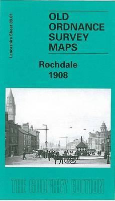 Rochdale 1908: Lancashire Sheet 89.01 - Old O.S. Maps of Lancashire (Sheet map, folded)