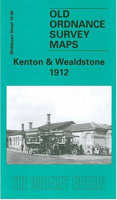 Kenton and Wealdstone 1912: Middlesex Sheet  10.08 - Old O.S. Maps of Middlesex (Sheet map, folded)