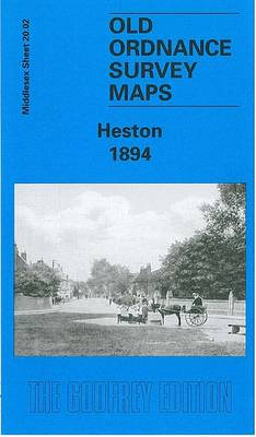 Heston 1894: Middlesex Sheet  20.02 - Old O.S. Maps of Middlesex (Sheet map, folded)