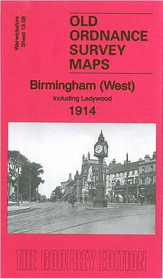 Birmingham (West) 1914: Warwickshire Sheet 13.08 - Old O.S. Maps of Warwickshire (Sheet map, folded)