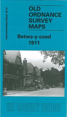 Betws-y-Coed 1911: Caernarvonshire Sheet 19.13 - Old O.S. Maps of Caernarvonshire (Sheet map, folded)