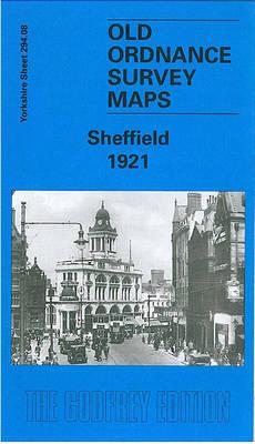 Sheffield 1921: Yorkshire Sheet 294.08b - Old O.S. Maps of Yorkshire (Sheet map, folded)