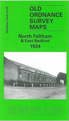 North Feltham and East Bedfont 1934: Middlesex Sheet 20.09 - Old O.S. Maps of Middlesex (Sheet map, folded)