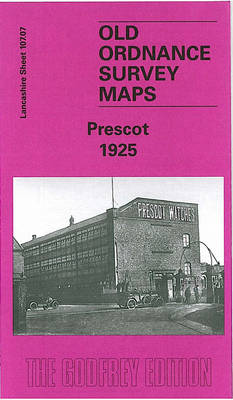 Prescot 1925: Lancashire Sheet 107.07 - Old O.S. Maps of Lancashire (Sheet map, folded)