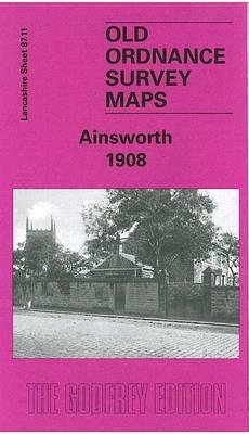 Ainsworth 1908: Lancashire Sheet 87.11 - Old O.S. Maps of Lancashire (Sheet map, folded)