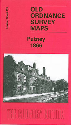 Putney 1866: London Sheet 113.1 - Old O.S. Maps of London (Sheet map, folded)