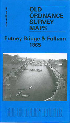 Putney Bridge and Fulham 1865: London Sheet 099.1 - Old O.S. Maps of London (Sheet map, folded)