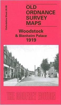 Woodstock and Blenheim Palace 1919: Oxfordshire Sheet 26.08 - Old Ordnance Survey Maps of Oxfordshire (Sheet map, folded)