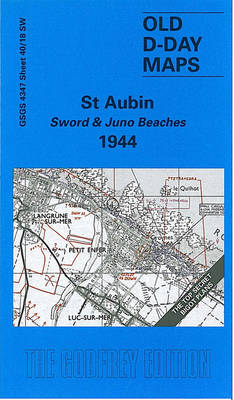 St. Aubin - Sword and Juno Beaches 1944 - D-Day Maps S. (Sheet map, folded)