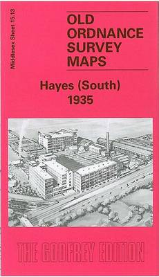 Hayes (South) 1935: Middlesex Sheet  15.13 - Old O.S. Maps of Middlesex (Sheet map, folded)