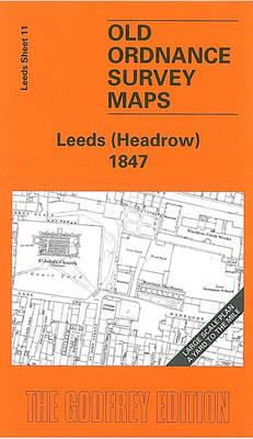Leeds (Headrow) 1847: Leeds Sheet 14 - Old O.S. Maps of Leeds (Sheet map, folded)