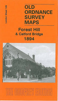 Forest Hill and Catford Bridge 1894: London Sheet 128.2 - Old O.S. Maps of London (Sheet map, folded)