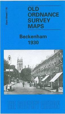 Beckenham 1930: Kent Sheet 7.15 (Sheet map, folded)