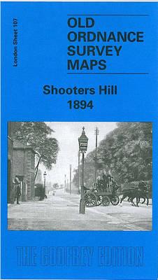 Shooters Hill 1894: London Sheet 107.2 - Old Ordnance Survey Maps of London (Sheet map, folded)