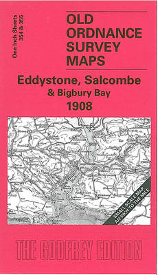 Eddystone, Salcombe and Bigbury Bay 1908: One Inch Sheet 354 - Old Ordnance Survey Maps - Inch to the Mile (Sheet map, folded)