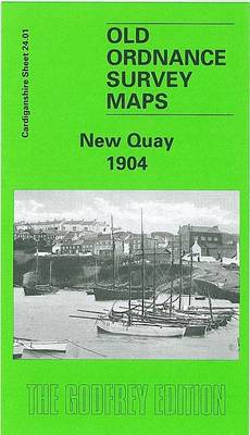 New Quay 1904: Cardiganshire Sheet 24.01 - Old O.S. Maps of Cardiganshire (Sheet map, folded)