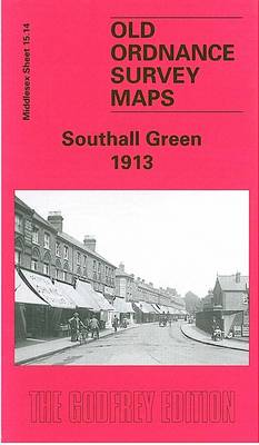 Southall Green 1913: Middlesex Sheet 15.14 - Old Ordnance Survey Maps of Middlesex (Sheet map, folded)