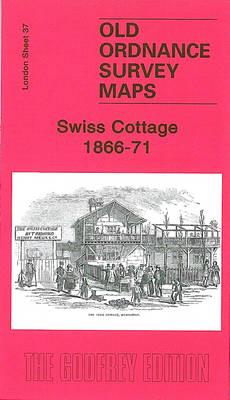 Swiss Cottage 1866-71: London Sheet 37.1 - Old Ordnance Survey Maps of London (Sheet map, folded)