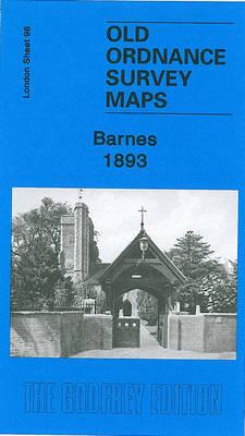 Barnes 1893: London Sheet 098.2 - Old Ordnance Survey Maps of London (Sheet map, folded)