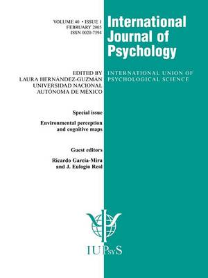 Environmental Perception and Cognitive Maps: A Special Issue of the International Journal of Psychology - Special Issues of the International Journal of Psychology (Paperback)