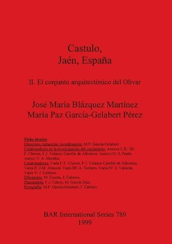 Castulo Jaen Espana: II. El conjunto arquitectonico del Olivar: II. El conjunto arquitectonico del Olivar - British Archaeological Reports International Series (Paperback)