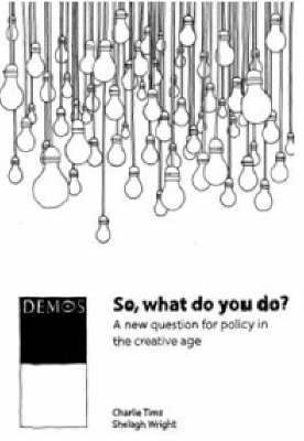 So, What Do You Do?: A New Question for Policy in the Creative Age (Paperback)