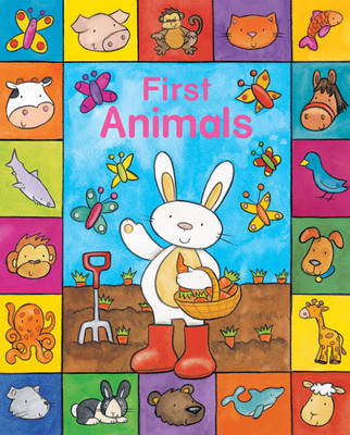 Sparkly Learning: First Animals (Board book)
