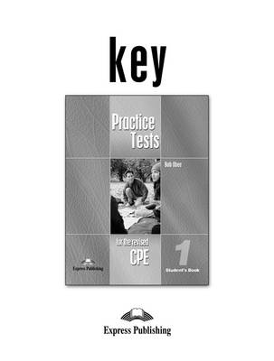 Practice Tests for the Revised Cpe (Paperback)