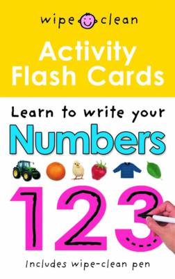 Numbers 123 Flashcards: Wipe Clean Activity Flashcards - Wipe Clean Activity Flashcards