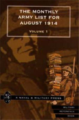 Monthly Army List for August 1914 (Paperback)