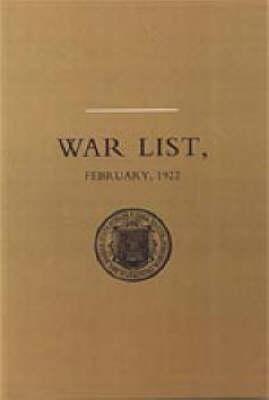 University of Dublin War List 1922: Trinity College (Paperback)