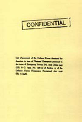 List of Personnel of the Irish Defence Forces Dismissed for Desertion During the Second World War (Paperback)