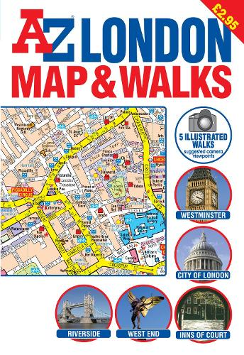 A-Z London Map and Walks - Street Maps & Atlases S. (Sheet map, folded)
