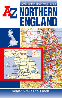 Northern England Road Map by Road Map A-Z   Waterstones