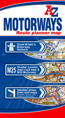 Motorways Route Planner Map (Sheet map, folded)
