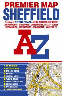 Premier Map of Sheffield - A-Z Premier Street Maps (Paperback)