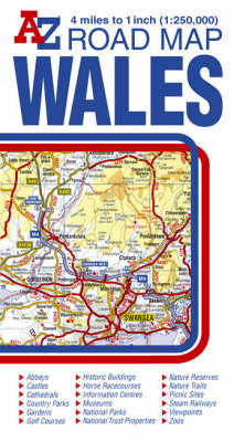 Wales Road Map (Sheet map, folded)