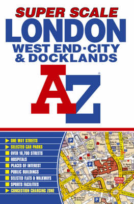 Super Scale Street Atlas of Inner London and Docklands (Paperback)