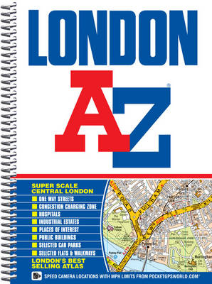 London Street Atlas - A-Z Street Atlas (Spiral bound)