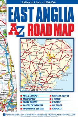 East Anglia Road Map - A-Z Road Maps & Atlases (Sheet map, folded)