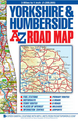 Yorkshire and Humberside Road Map - A-Z Road Maps & Atlases (Sheet map, folded)