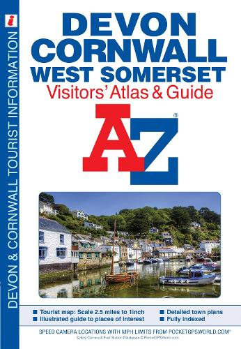 Devon, Cornwall and West Somerset Visitors' Atlas - A-Z Street Maps & Atlases (Paperback)