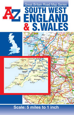 South West England and South Wales Road Map - Great Britain Road Maps 5 Miles to 1 Inch (Sheet map, folded)