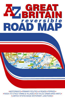 Great Britain Reversible Road Map - A-Z Road Map (Sheet map, folded)