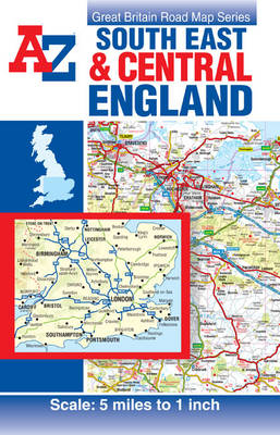 South East and Central England Road Map (Sheet map, folded)