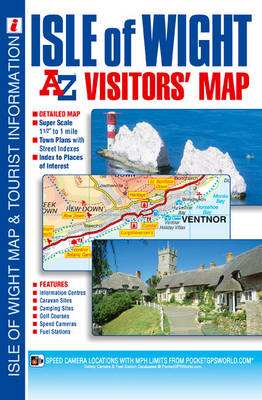 Isle of Wight Visitors' Map - A-Z Road Map (Sheet map, folded)